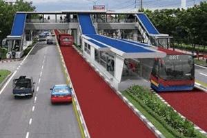 O projeto prevê também a implantação de uma passarela sobre a avenida