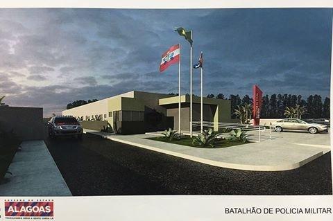 Edital de licitação para construção da sede do 11º BPM, em Penedo, é publicado no Diário Oficial
