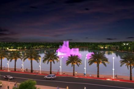 As obras do Parque das Águas seguem em ritmo acelerado