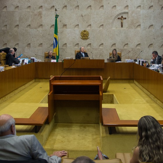 Sessão no Supremo Tribunal Federal (Foto: Antonio Cruz/Ag. Brasil)