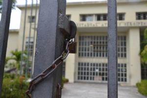 Colégio Atheneu continua fechado (Foto: Portal Infonet)