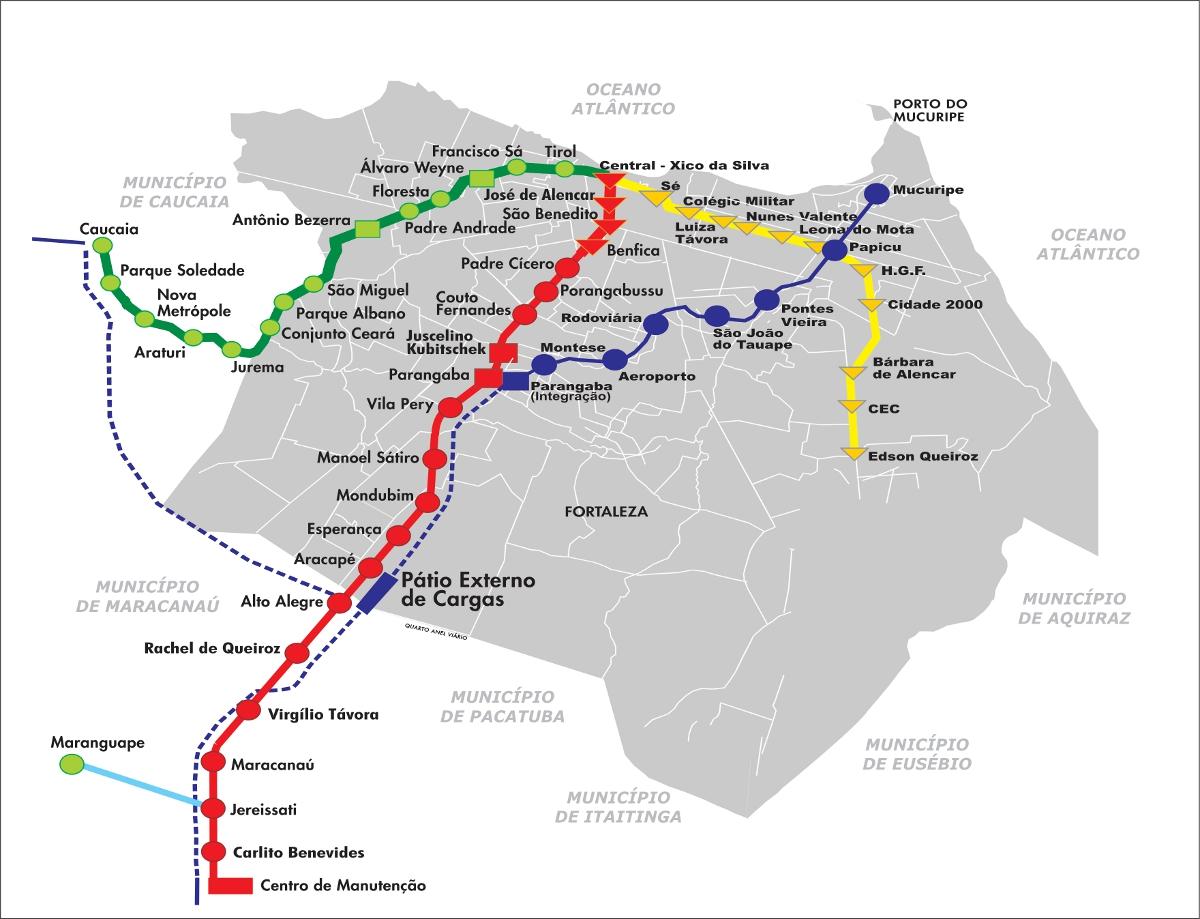 Mapa do Metrô de Fortaleza - Conlicitação